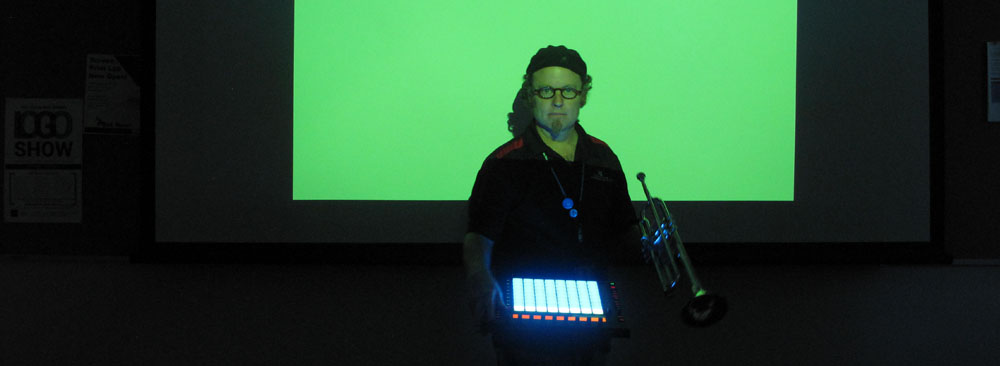 Slide # 4 - Demonstrating Trumpet and Ableton Push